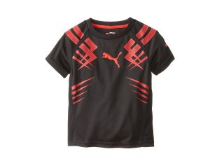 Puma Kids Print Tee Boys Short Sleeve Pullover (Black)
