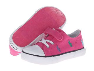 Polo Ralph Lauren Kids Bel Harbour Cap Toe Repeat Girls Shoes (Pink)