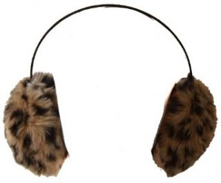 Leopard Print Fur Ear Muffs