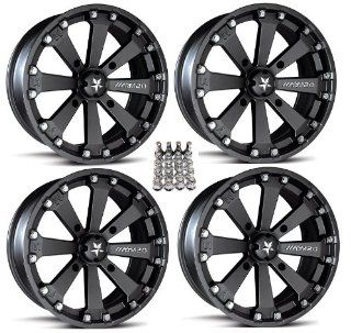 "MSA M20 Kore ATV Wheels/Rims Black 14"" Honda Rincon Yamaha Rhino Kawasaki Brute Force Suzuki KingQuad (4) Automotive"