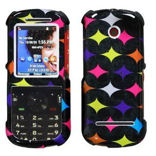 Hard Plastic Snap on Cover Fits Motorola VE440 Oval Star Pattern MetroPCS Cell Phones & Accessories
