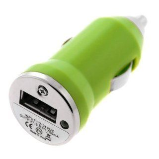 SODIAL Mini USB Car Charger Vehicle Power Adapter   Green for Apple iPhone 4 4G 16GB / 32GB 4th Generation  Other Products