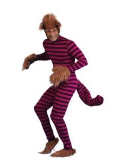 Alice in Wonderland Cheshire Cat Adult Plus Size Halloween Costume Size 54 (XXL) Clothing