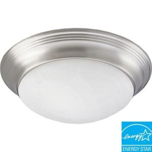 Progress Lighting 1 Light Brushed Nickel Flush Mount P3764 09EBWB