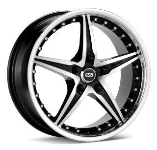 "Enkei L SR  Luxury Series Wheel, Black Machined (18x7.5""   5x100, 42mm Offset) One Wheel/Rim Automotive"