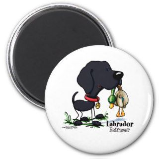 Hunting Dog   Black Labrador Retriever magnet