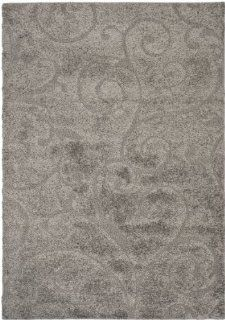 Safavieh SG455 8013 Florida Shag Collection Shag Area Rug, 6 Feet by 9 Feet, Grey   Modern Rug
