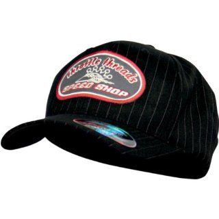 Throttle Threads Speed Shop Flex Fit Hat , Gender Mens/Unisex, Primary Color Black, Size Sm/Md TT441H95BSSM Automotive
