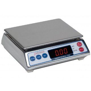 Detecto Stainless Steel All Purpose Digital Portion Control Scale, 19.99 x 0.01 Pound Capacity    1 each. Kitchen & Dining