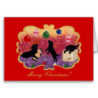 Black Labrador Retriever Christmas Card