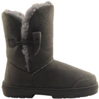 Womens Faux Fur Lined Thick Sole Toggle Winter Snow Boots Shoes