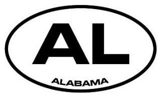 "6"" Alabama AL euro oval style Magnet for Auto Car Refrigerator or any metal surface."