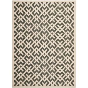 Safavieh Courtyard Black/Beige 6.6 ft. x 9.5 ft. Area Rug CY6915 216 6