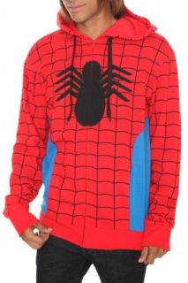 Marvel Universe Spider Man Costume Zip Hoodie Size  Small Clothing