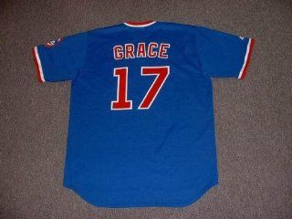 MARK GRACE Chicago Cubs 1989 Majestic Cooperstown THROWBACK Baseball Jersey, Large  Sports Fan Baseball And Softball Jerseys  Sports & Outdoors