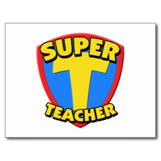 Super Teacher Post Card