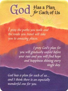 Blue Mountain Arts God Has a Plan for Each of Us Miniature Easel Back Print with Magnet (MIN463)