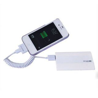 HAKKA Fashion White 2800mAh Power Bank DiscoveryBuy Portable External Battery Charger for Apple Iphone 5 / 4S / 4 / 3G , Samsung Galaxy S2 / S3 / S4 i9500 / Note 2 N7100, Apple Ipad 2/ 3 /4 , ipad mini , HTC One / X920e and any Android Mobile Phone / Table