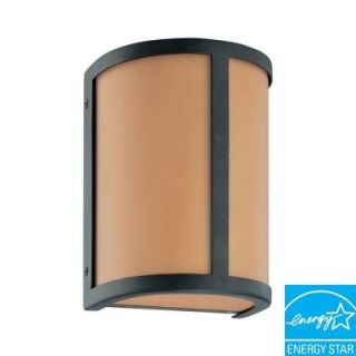 Glomar Odeon 1 Light Aged Bronze Wall Sconce HD 3821