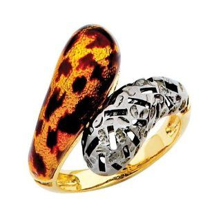 14K Yellow Gold High Polish Finish Enamel Fancy Ring Band The World Jewelry Center Jewelry