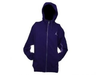Nike Air Jordan All Day Full Zip Mens Hoodie Sweatshirt X Large Purple Clothing