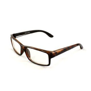 MLC Eyewear Rectangle Nerdy Sunglasses 470 Black Leopard Frame Clear Lens for Women and Men (can be optical frame)  Other Products
