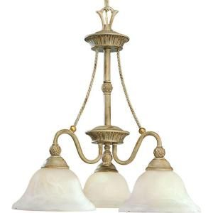 Progress Lighting Savannah Collection 3 Light Seabrook Chandelier P4007 42