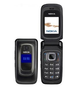 Nokia 6085 Unlocked GSM Flip Phone with VGA Camera, Bluetooth, FM Radio, /MP4 Player and microSD Slot   Black Electronics