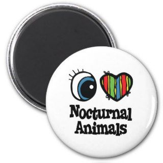 I Love (Heart) Nocturnal Animals Fridge Magnet