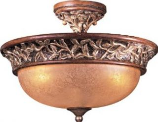 Minka Lavery 1568 477 3 Light Semi Flush Ceiling Fixture from the Salon Grand Collection, Florence Patina   Semi Flush Mount Ceiling Light Fixtures