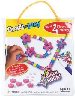 Crafty Craft n Play Activity Kit Girls Rock Jewelry