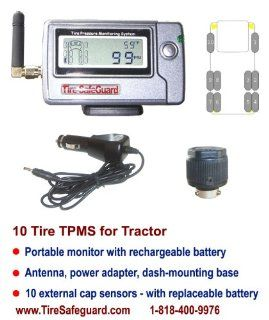 10 Tire Truck Cap Sensor Tire Pressure Monitoring System (TPMS)  Automotive Electronic Security Products