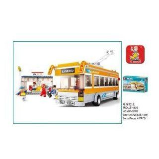 Sluban Trolley Bus 465 Piece Set Lego Compatible Toys & Games