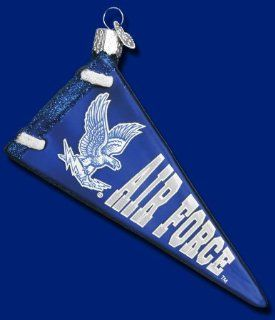 U.S. AIR FORCE Pennant Glass Ornament Old World Christmas NEW Americana Military   Christmas Ball Ornaments