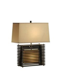 Nova Lighting Kimura Reclining Table Lamp, Dark Brown/Silver   Bed Light