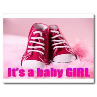 Baby girl cute baby shoes post cards
