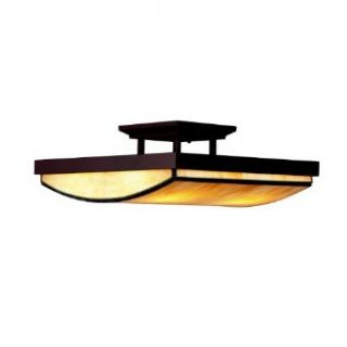 Kichler Lighting 65339 4 Light Riverview Semi Flush Ceiling Light, Olde Bronze   Semi Flush Mount Ceiling Light Fixtures