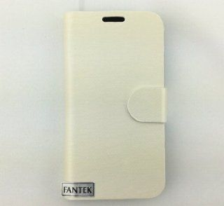 FanTEK Brand New Luxury PU Leather Case Cover for Samsung Galaxy S4 i9500, White Cell Phones & Accessories