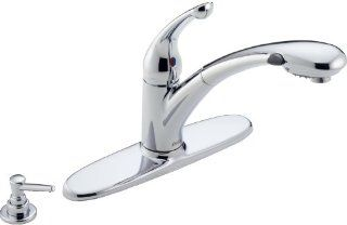 Delta 470 PROMO DST Signature Single Handle Pull Out Kitchen Faucet, Chrome   Touch On Kitchen Sink Faucets