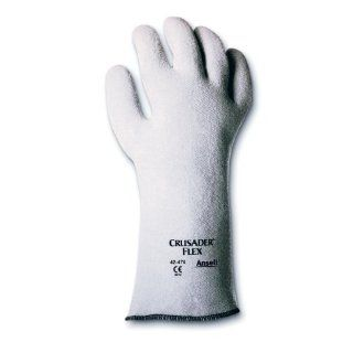 Ansell Crusader Flex 42 474 Nitrile High Temperature Glove, Coated on Non Woven Felt Liner, Large (Pack of 12 Pairs) Work Gloves