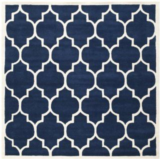 Safavieh CHT733C Chatham Collection Area Rug, 9 Feet, Dark Blue and Ivory