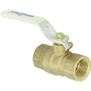 "Milwaukee Valve UPBA475B Series Brass Ball Valve, Potable Water Service, Two Piece, Inline, Lever, 1/2"" NPT Female Industrial Ball Valves"