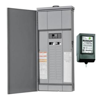 Square D by Schneider Electric Homeline 150 Amp 30 Space 30 Circuit Outdoor Main Breaker Load Center with Surge Breaker SPD HOM30M150RBSB