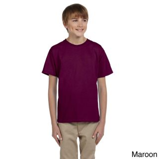 Gildan Gildan Youth Ultra Cotton 6 ounce T shirt Brown Size XS (4 6)