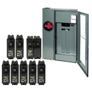 Square D by Schneider Electric CSEDVP1 Homeline 200 Amp 30 Space 40 Circuit Outdoor Main Breaker Combination Service Device Value Pack   Circuit Breaker Panels