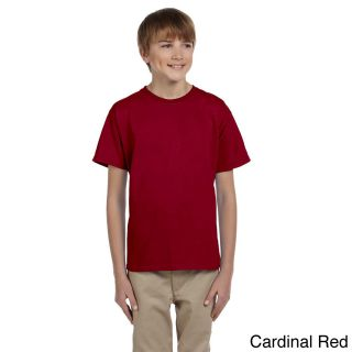 Gildan Gildan Youth Ultra Cotton 6 ounce T shirt Red Size XS (4 6)