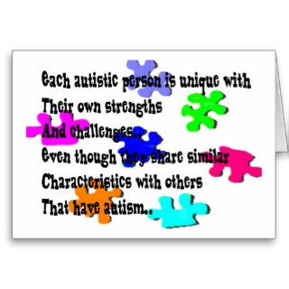 With Autism, I Have Strengths card