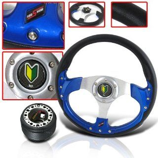 RACING STYLE STEERING WHEEL WITH HORN BADGE AND ADAPTER HUB Automotive