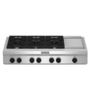 Kitchenaid KGCU483VSS Commercial Style Gas Cooktop Appliances