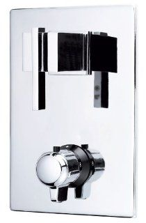 Danze D560144 Sirius Two Handle 1/2 Inch Thermostatic Shower Valve with Trim, Chrome